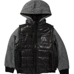 Urban Republic black and grey puff coat